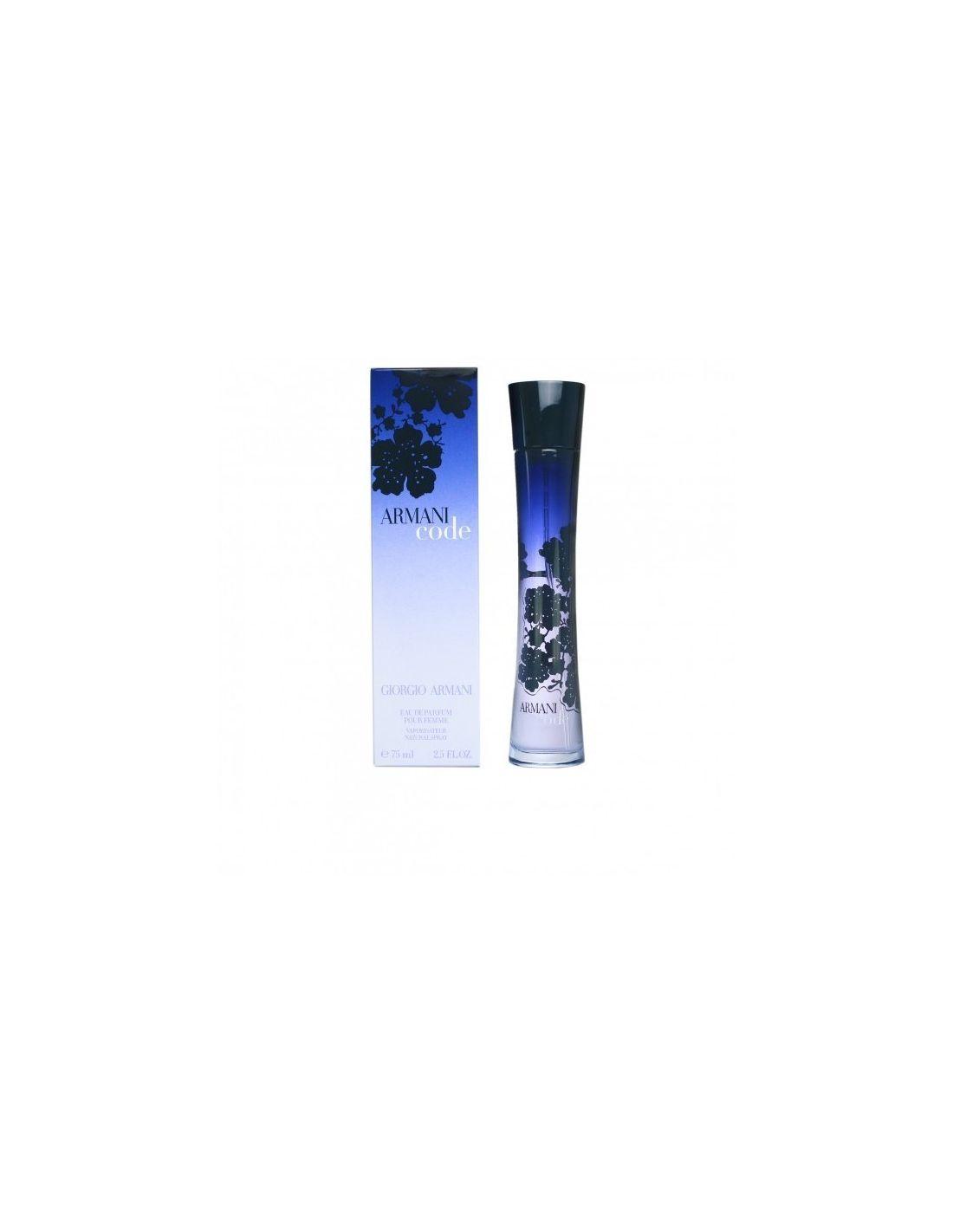 perfume armani code femme eau de parfum 75 ml perfumes. Black Bedroom Furniture Sets. Home Design Ideas