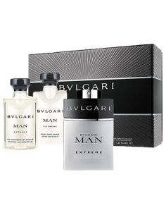 Bvlgari Man Extreme Eau de Toilette 60ml + Bálsamo 40ml + Shower Gel 40ml
