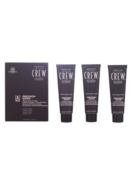 American Crew Precision Blend. Pack Tinta Gel Creme Cor 2.3 Escuro 3unid