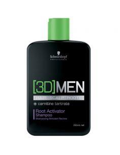 Schwarzkopf BC 3D Men Root Activator Shampoo 250 ml