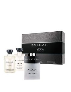 Coffret Bvlgari Man Extreme Eau de Toilette 60 ml + After Shave 40 ml + Shower Gel 40 ml