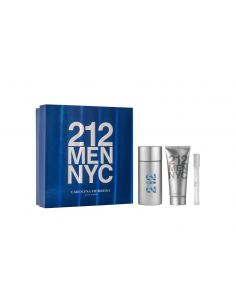 Coffret Carolina Herrera 212 Men Eau de Toilette 100 ml + After Shave 100 ml + Edt 10 ml
