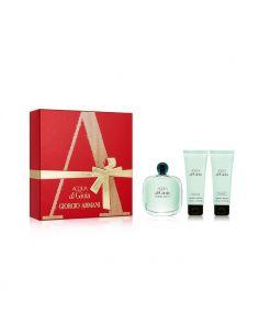 Coffret Acqua Di Gioia Eau de Parfum 100 ml + Body Lotion 75 ml + Shower Gel 75 ml