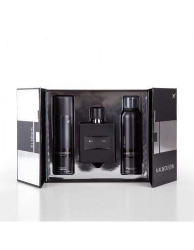 Coffret Mauboussin Pour lui in Black Eau de Parfum100 ml + Shaving Foam 150ml + Deo Spray 150ml