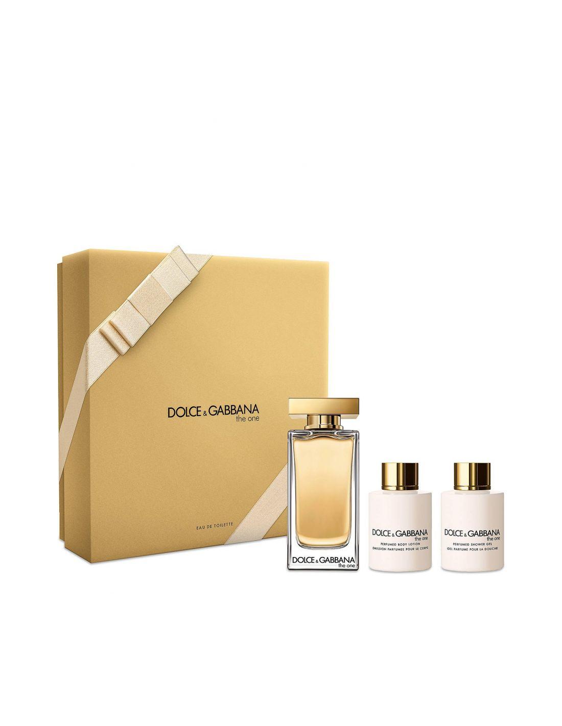 Coffret Dolce   Gabbana The One Eau de Toilette 100ml + Body Lotion 100ml +  Shower 7e18ba9997