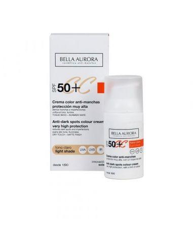 Bella Aurora CC Cream Anti-Manchas Light Shade SPF50+ 30 ml