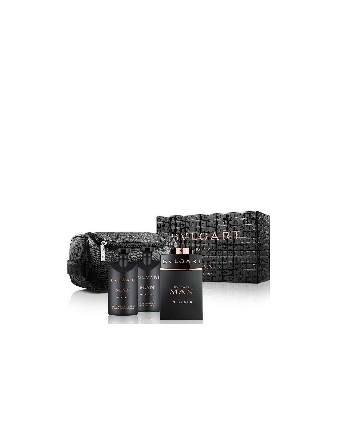 Coffret Bvlgari Man In Black Eau De Parfum 100 Ml After Shave 75ml Edp 100ml Shower