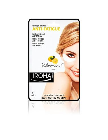 Iroha Eyes & Lips Hydrogel Patches Anti-Fatigue Vitamin C 6 pcs