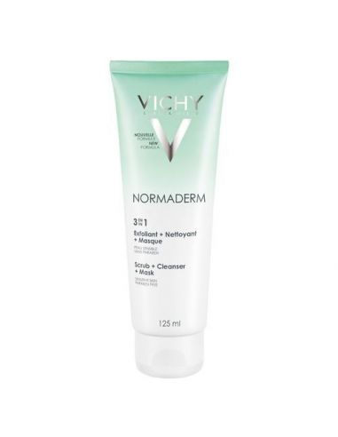 Vichy Normaderm Nettoyant Exfoliant Masque 3-en-1 125 ml
