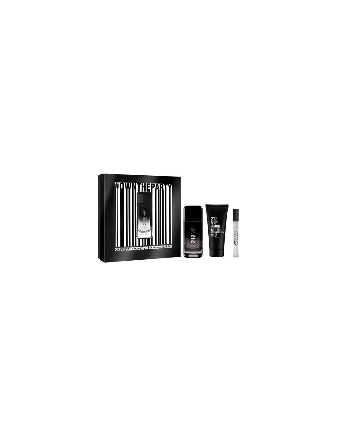 Coffret Carolina Herrera 212 Vip Black Eau De Parfum 100 Ml Shower Original Bc Tommy Hanson