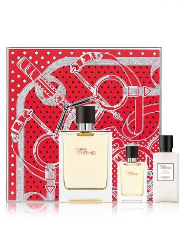 Coffret Hermès Terre D'Hermès Eau de Toilette 100ml + After Shave 40 ml + Edt 12 ml
