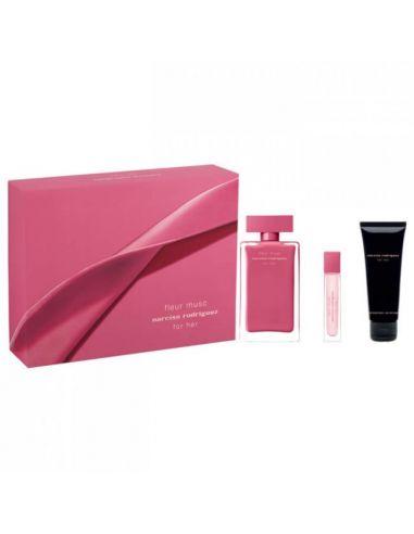 Coffret Narciso Rodriguez Fleur Musc Eau de Parfum 100 ml + Edp 10 ml + Body Lotion 75 ml