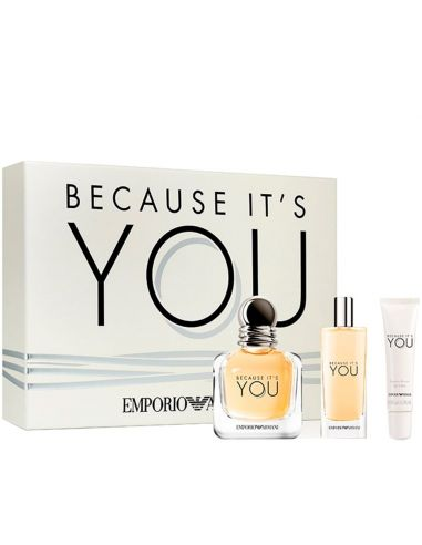 Coffret Giorgio Armani Because It's You Eau de Parfum 100 ml + Body Lotion 75ml + Edp 15 ml