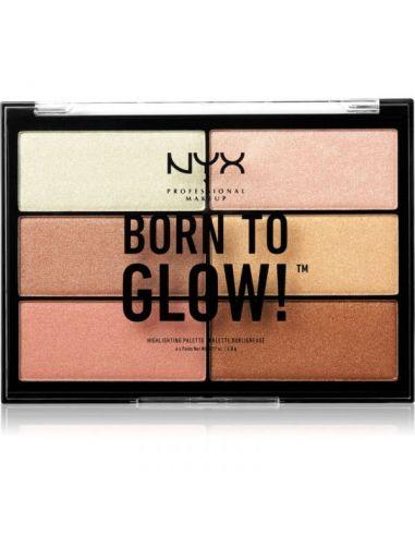 Nyx Makeup Born To Glow Paleta Tom 01...