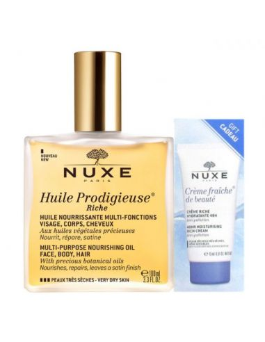 Nuxe Pack Óleo Rico Multi-Usos 100ml...